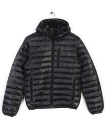 REPLAY REVERSIBLE PUFFA JACKET BLACK