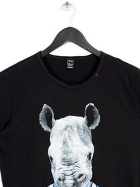 REPLAY RHINO HORN T-SHIRT BLACK