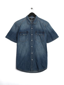 Replay Short Sleeve Denim Shirt