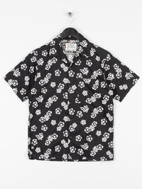 Replay SS Flower Print Shirt Black