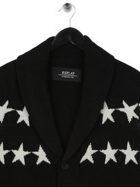 Replay Star Cardigan Black