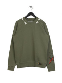 Replay Star Sweatshirt Khaki