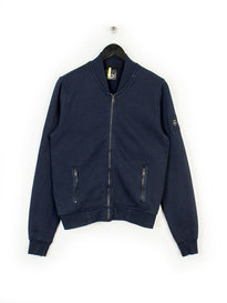 REPLAY ZIP THROUGH BOMBER SWEAT NAVY
