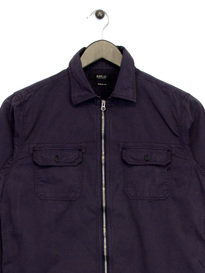 Replay Zip Up Shirt Navy