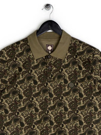 Pretty Green Ryder Paisley Polo Khaki