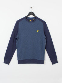 SADDLE SHOULDER CREW SWEAT Z56 BLUE