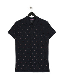 Scotch & Soda All Over Printed Polo Navy