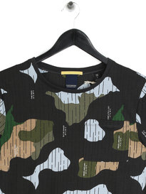 Scotch & Soda All Over Print T-Shirt Dark Carbon Camo