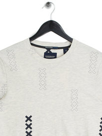Scotch & Soda All Over Print T-Shirt Grey