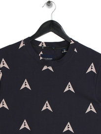 Scotch & Soda All Over Print T-Shirt Navy
