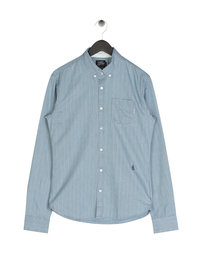 Scotch & Soda AMS Blauw All Over Shirt Blue