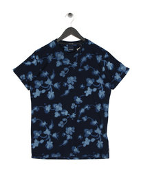 Scotch & Soda Printed Indigo T-Shirt Blue