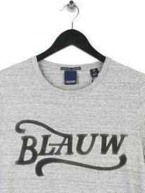 Scotch & Soda AMS Blauw Brand T-shirt Grey