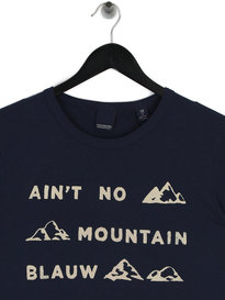 Scotch & Soda AMS Blauw Graphic T-Shirt Navy