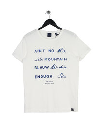 Scotch & Soda AMS Blauw Graphic T-Shirt White