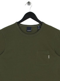 Scotch & Soda AMS Blauw Pocket T-Shirt Green