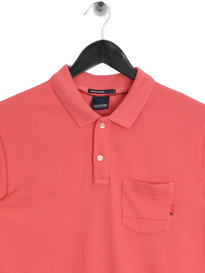 Scotch & Soda AMS Blauw Polo Shirt Saffron