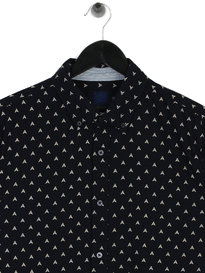 Scotch & Soda AMS Blauw Print Shirt Navy