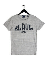 Scotch & Soda AMS Blauw Print T-Shirt Grey