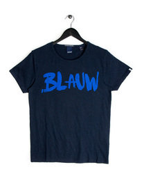 Scotch & Soda AMS Blauw Print T-Shirt Navy