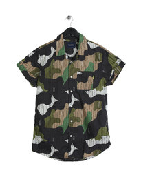 Scotch & Soda Short Sleeve Shirt Dark Carbon Camo
