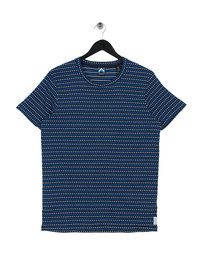 Scotch & Soda AMS Blauw Simple T-Shirt Navy