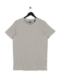 Scotch & Soda AMS Blauw Simple T-Shirt White