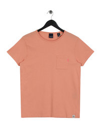 Scotch & Soda Amsterdam Blauw 1 Pocket T-Shirt Pink
