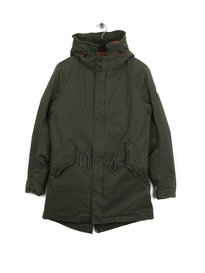 Scotch & Soda Classic Hooded Parka Green