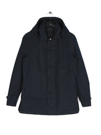 Scotch & Soda Classic Hooded Parka Navy