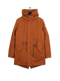 Scotch & Soda Classic Hooded Parka Orange