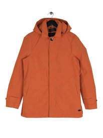 Scotch & Soda Classic Hooded Parka Rust Orange