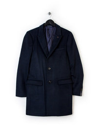 Scotch & Soda Classic Long Coat Navy