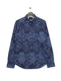 Scotch & Soda Classic Long Sleeve Shirt Navy