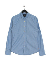 Scotch & Soda Classic Oxford Long Sleeve Shirt Blue