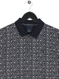 Scotch & Soda Classic Pique Clean Short Sleeve Polo Navy