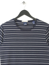 SCOTCH & SODA COTTON STRIPED T-SHIRT NAVY