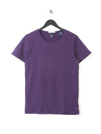 SCOTCH & SODA  COTTON TEE ALLOVER PRINT PURPLE