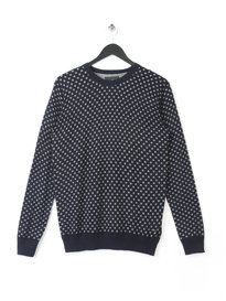 SCOTCH & SODA CREW PULLOVER MELANG NAVY