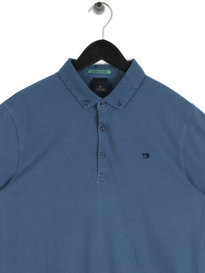 Scotch & Soda Garment Short Sleeve Dyed Jersey Polo Blue