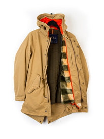 Scotch & Soda Long Parka Jacket Sand