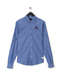 Scotch & Soda Long Sleeve  Alover Print Shirt Blue