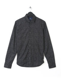 SCOTCH & SODA LONG SLEEVE SHIRT WITH ALLOVER PRINT BLACK