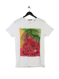 Scotch & Soda Moonshine Harbour T-shirt White
