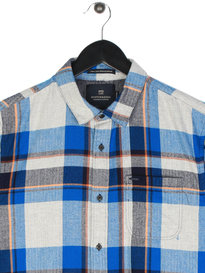 Scotch & Soda Multi Coloured Check Shirt Blue