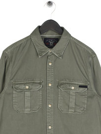 Scotch & Soda Oversized Workwear Shirt Green