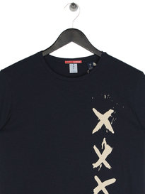 Scotch & Soda Painted Text T-Shirt Navy