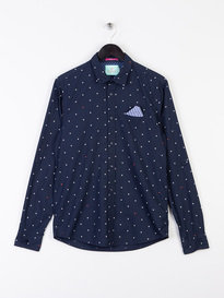 Scotch & Soda Pattern Shirt Navy
