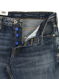 Scotch & Soda Ralston Bison Blauw Blue Denim