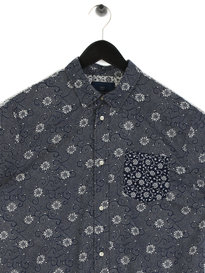 Scotch & Soda  Short Sleeve Shirt Navy